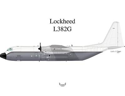 Digital Art - Lockheed L382g by Arthur Eggers