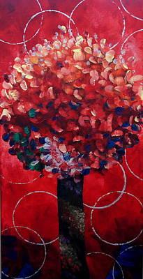 Lollipop Tree Red Art Print