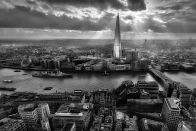 Shard Photograph - London From The Sky Garden by Ian Hufton