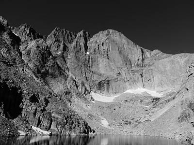 Chasm Lake Photograph - Longs Peak by John Mallonee