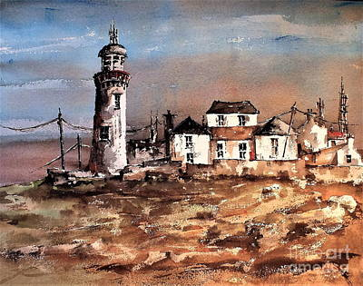 Painting - F 708 Loophead Lighthouse, Clare by Val Byrne