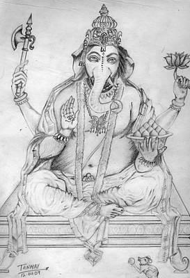 Lord Ganesha Painting - Lord Ganesha by Tanmay Singh