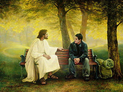 Park Benches Painting - Lost And Found by Greg Olsen
