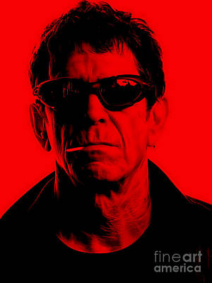 Rock Stars Mixed Media - Lou Reed Collection by Marvin Blaine