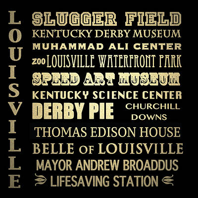 Louisville Famous Landmarks Art Print
