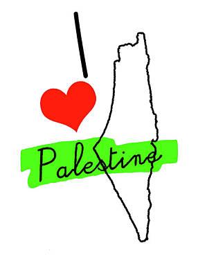 Photograph - Love Palestine by Munir Alawi