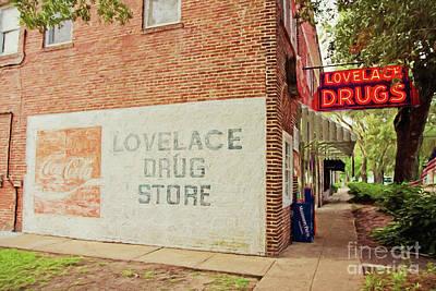 Photograph - Lovelace Drug Store by Scott Pellegrin