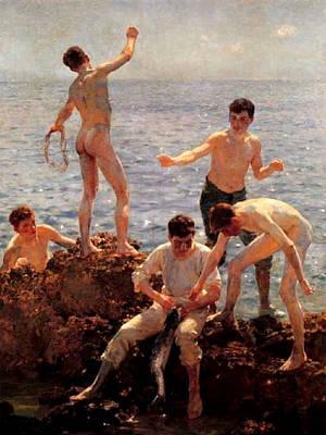 Painting - Lovers Of The Sun by Henry Scott Tuke