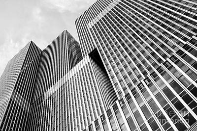 Maas Photograph - Low Angle View Of A Huge Skyscraper by Patricia Hofmeester