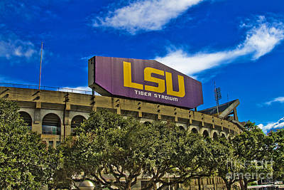 Lsu Tiger Stadium Art Print by Scott Pellegrin