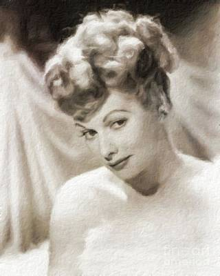 Lucille Ball Vintage Hollywood Actress Art Print