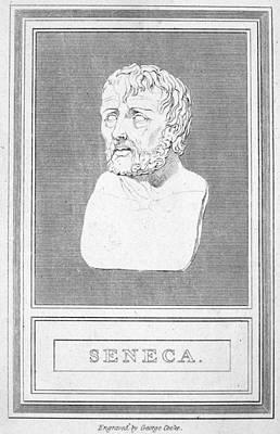 Statue Portrait Photograph - Lucius Annaeus Seneca by Granger