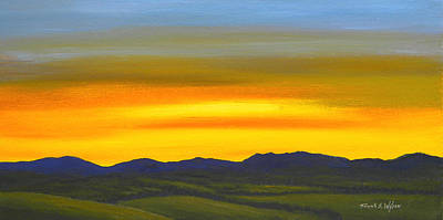 Painting - Luminescent Sunrise by Frank Wilson