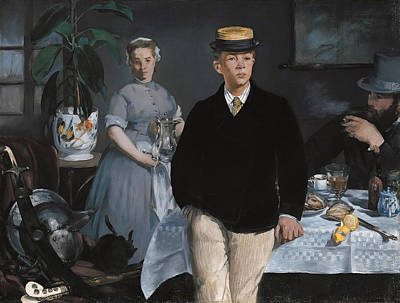 Smoking Painting - Luncheon In The Studio by Edouard Manet