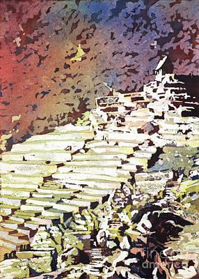 Painting - Machu Picchu Ruins- Peru by Ryan Fox