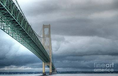 Photograph - Mackinac Bridge by Randy Pollard