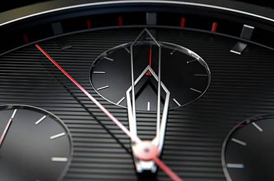 Numbers Digital Art - Macro Watch Closeup by Allan Swart