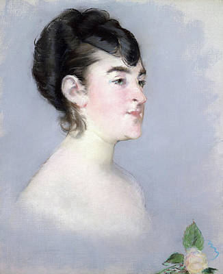 Female Painting - Mademoiselle Isabelle Lemonnier by Edouard Manet