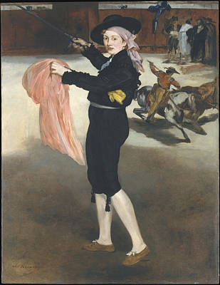Public Holiday Painting - Mademoiselle V. . . In The Costume Of An Espada by edouard Manet