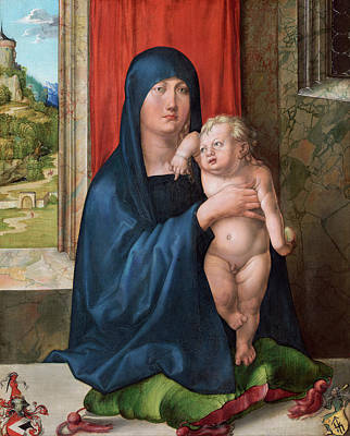 Child Jesus Painting - Madonna And Child by Albrecht Durer