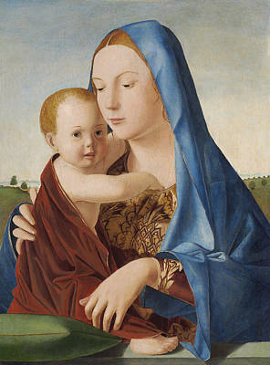 Mary And Jesus Painting - Madonna And Child by Antonello da Messina
