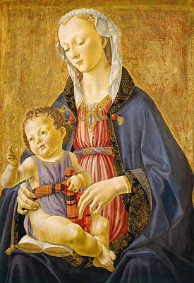 Virgin Mary Painting - Madonna And Child by Domenico Ghirlandaio