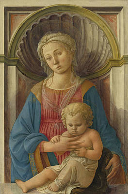Mary And Jesus Painting - Madonna And Child by Fra Filippo Lippi
