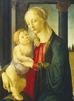 Mary And Jesus Painting - Madonna And Child by Sandro Botticelli