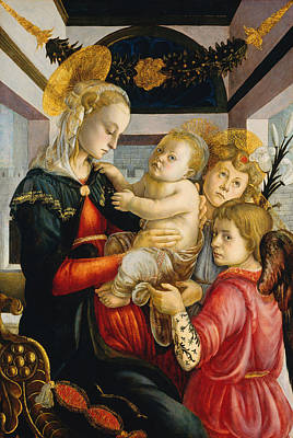 Archangel Painting - Madonna And Child With Angels by Sandro Botticelli