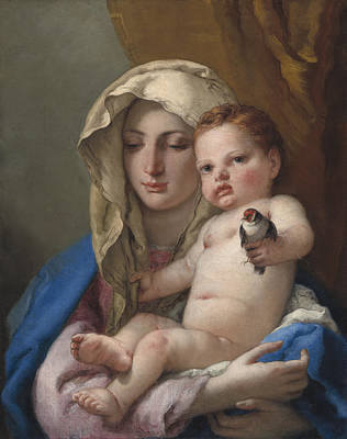 Mary And Jesus Painting - Madonna Of The Goldfinch by Giovanni Battista Tiepolo
