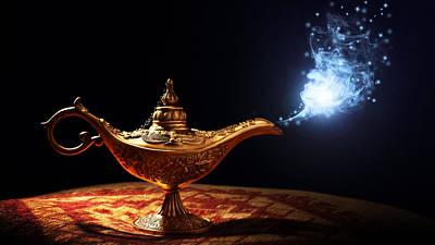 Magician Digital Art - Magic by Super Lovely