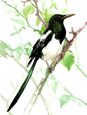 Painting - Magpie by Suren Nersisyan