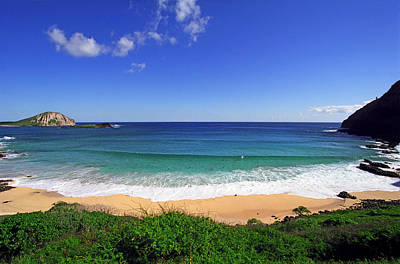 Blue Green Wave Photograph - Makapuu Beach by Kevin Smith