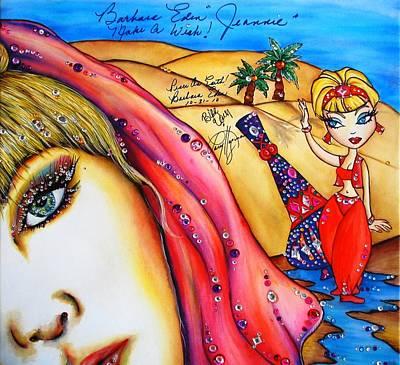 Barbara Eden Mixed Media - Make A Wish by Joseph Lawrence Vasile
