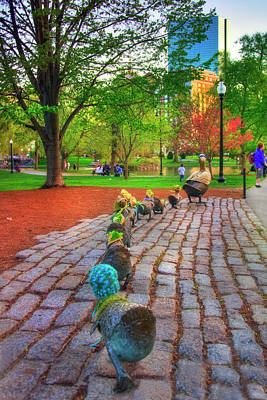 Photograph - Make Way For Ducklings - Boston by Joann Vitali