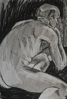 Drawing - Male Nude by Joanne Claxton