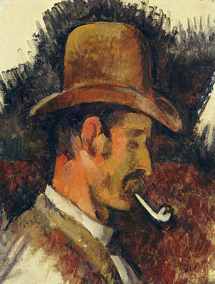 French Painting - Man With Pipe by Paul Cezanne