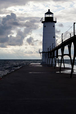Photograph - Manistee Pierhead Lighthouse-3 by Fran Riley