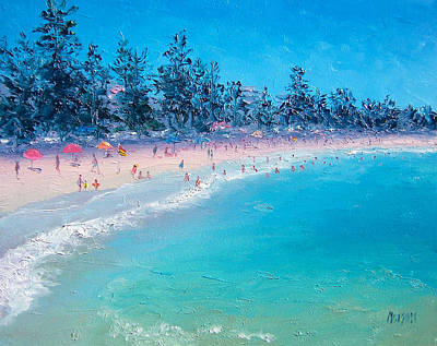 Seascape Art Painting - Manly Beach  by Jan Matson