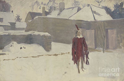 Rooftops Painting - Mannikin In The Snow by John Singer Sargent