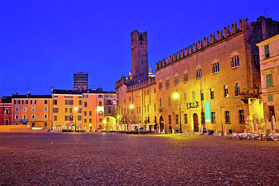 Photograph - Mantova City Piazza Sordello Evening View by Brch Photography