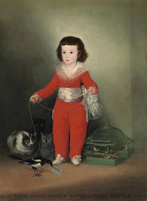 Royalty Painting - Manuel Osorio Manrique De Zuniga by Francisco Goya