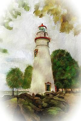 Photograph - Marble Head Lighthouse by Mary Timman