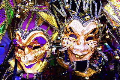 Photograph - Mardi Gras Mask by John Babis