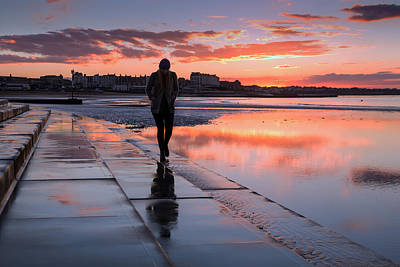 Sunset Photograph - Margate Kings Steps by Ian Hufton