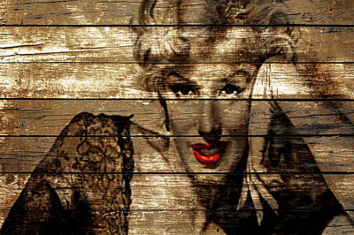 Misfits Mixed Media - Marilyn Monroe  by Brian Reaves