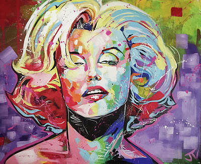 Painting - Marilyn Monroe by Jay V Art