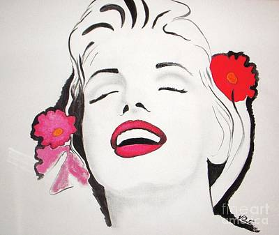 Monroe Painting - Marilyn Monroe by Vesna Antic