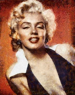 Modern Man Surf Royalty Free Images - Marilyn Monroe Vintage Hollywood Actress Royalty-Free Image by Esoterica Art Agency