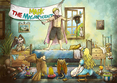 Mark The Magnificent Art Print by Reynold Jay